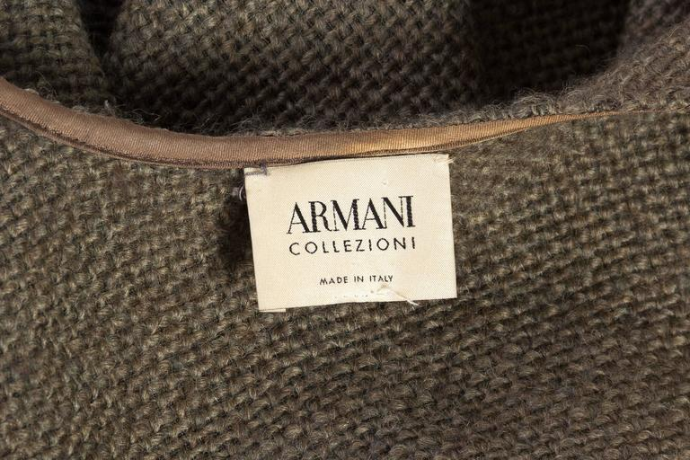 Delicate Wool Poncho by Giorgio Armani For Sale 4