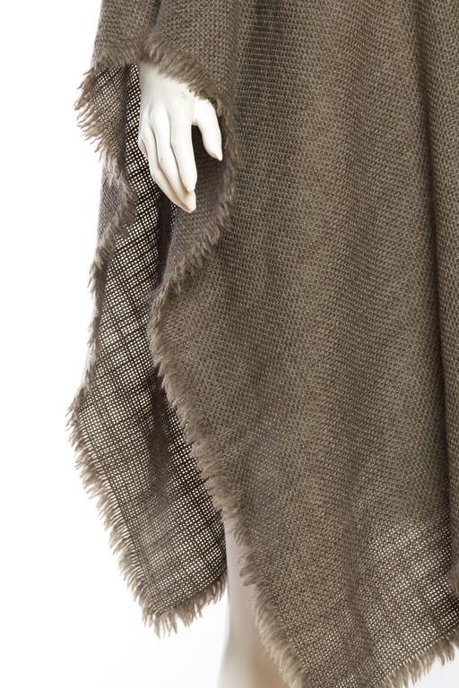 Delicate Wool Poncho by Giorgio Armani For Sale 2