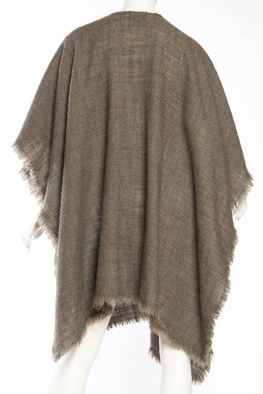 Women's or Men's Delicate Wool Poncho by Giorgio Armani For Sale
