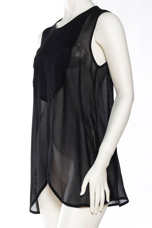 Women's Giorgio Armani Crepe Tunic Blouse For Sale