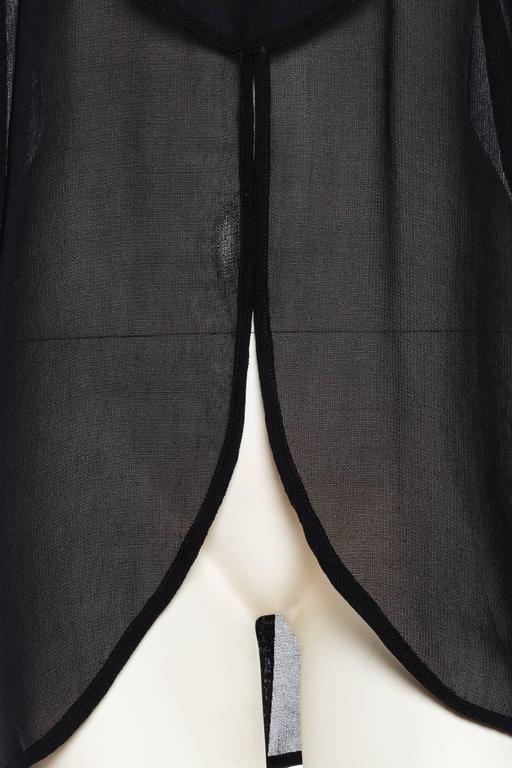 Giorgio Armani Crepe Tunic Blouse For Sale 4