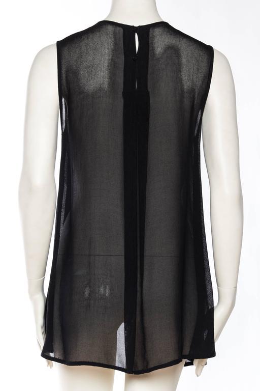 Giorgio Armani Crepe Tunic Blouse For Sale 1