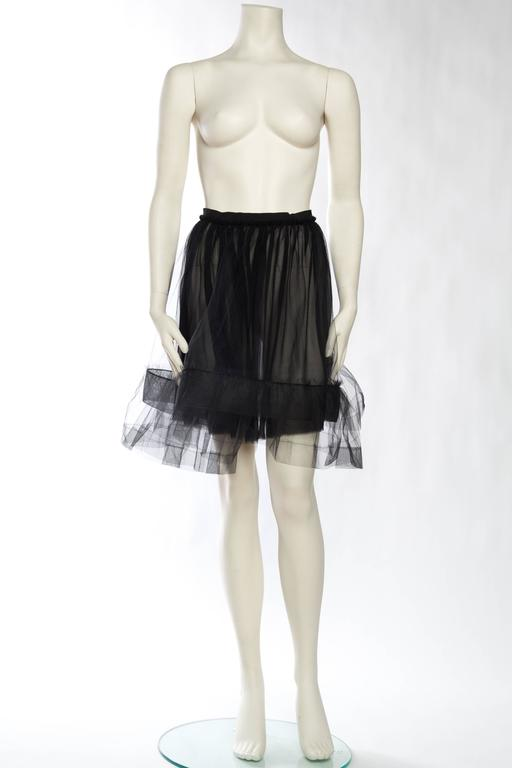 Lanvin Sheer Tulle and Chiffon Skirt 2