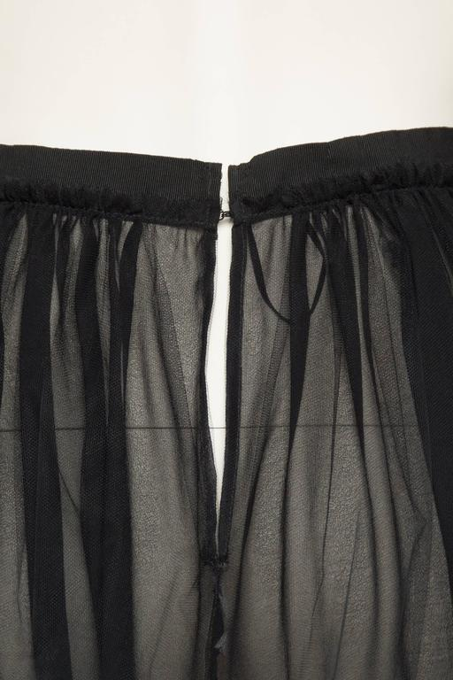 Lanvin Sheer Tulle and Chiffon Skirt 9