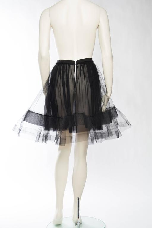 Lanvin Sheer Tulle and Chiffon Skirt 5