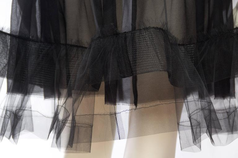 Lanvin Sheer Tulle and Chiffon Skirt 8