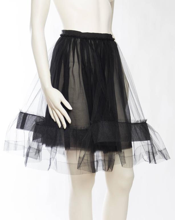 Lanvin Sheer Tulle and Chiffon Skirt 3