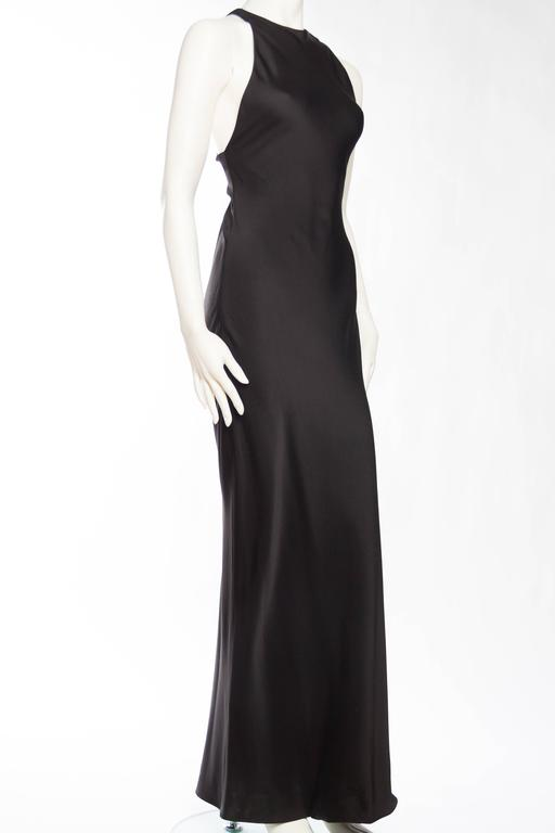 51bb313ce1e Black Yves Saint Laurent Bias Cut Gown with Cut-out Back. For Sale