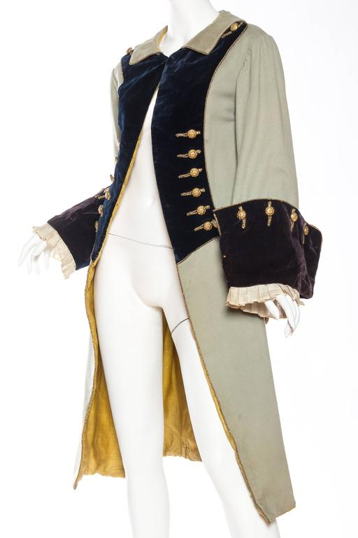 18th Century Style Victorian Era Frock Coat In Excellent Condition For Sale In New York, NY