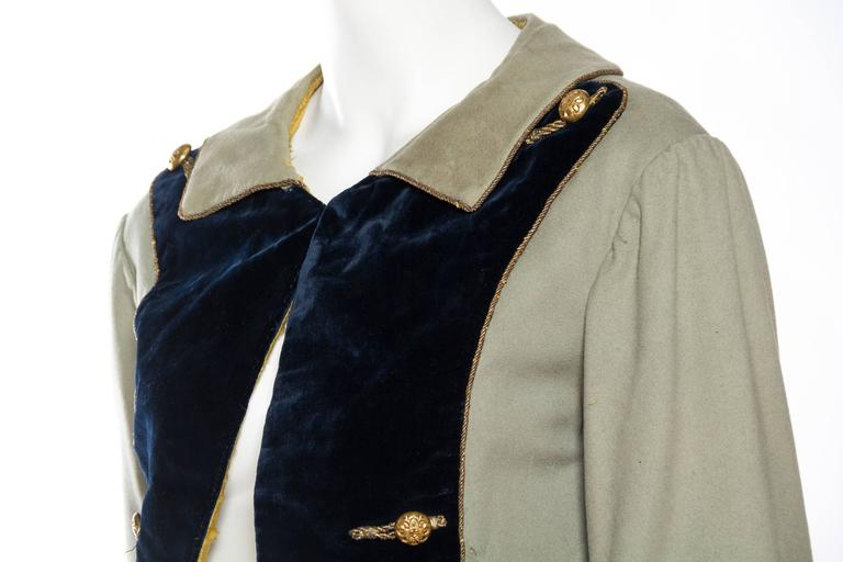 18th Century Style Victorian Era Frock Coat For Sale 2