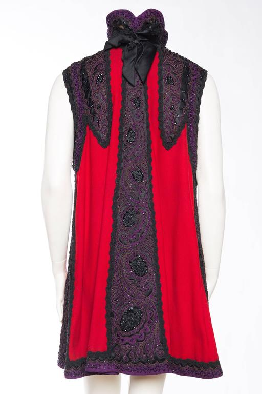 Victorian Beaded and Embroidered Mantle Coat Vest For Sale 2