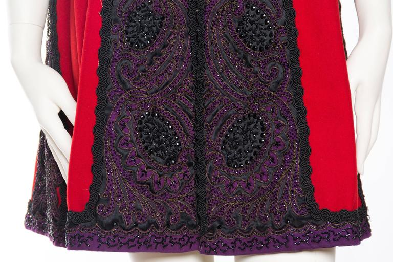 Victorian Beaded and Embroidered Mantle Coat Vest For Sale 5