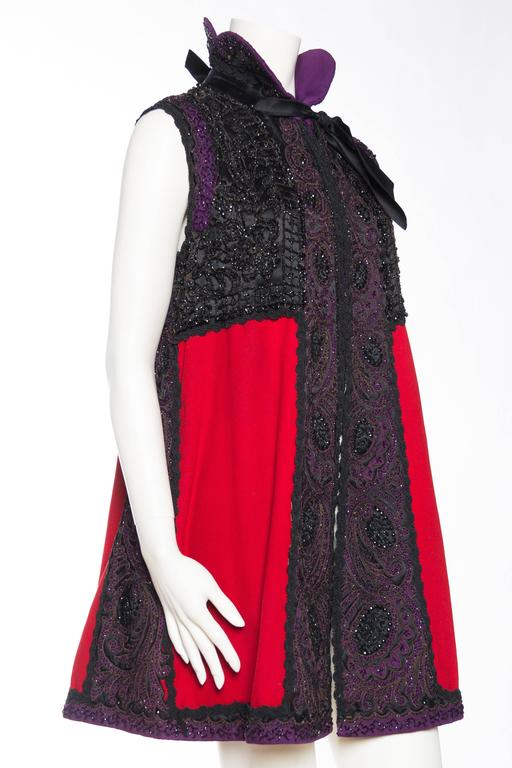 Women's Victorian Beaded and Embroidered Mantle Coat Vest For Sale