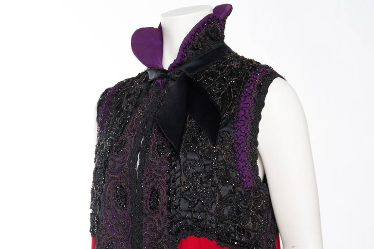 Victorian Beaded and Embroidered Mantle Coat Vest For Sale 3