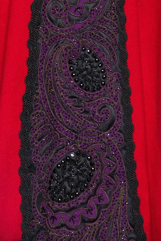Victorian Beaded and Embroidered Mantle Coat Vest For Sale 6