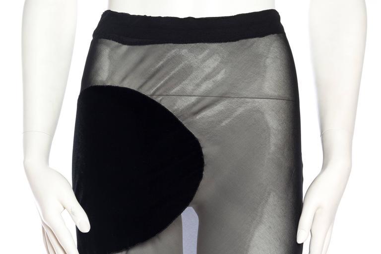 Comme Des Garcons Bias Cut Chiffon and Velvet Skirt For Sale 2