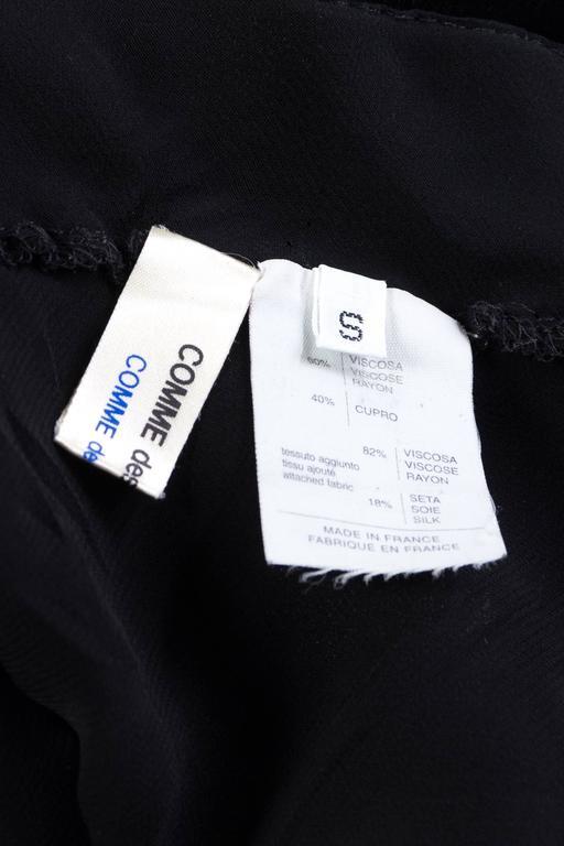 Comme Des Garcons Bias Cut Chiffon and Velvet Skirt For Sale 6