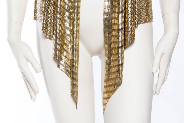 Slinky Gold Metal Mesh Vest For Sale 4