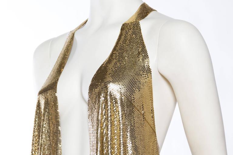 Slinky Gold Metal Mesh Vest For Sale 3