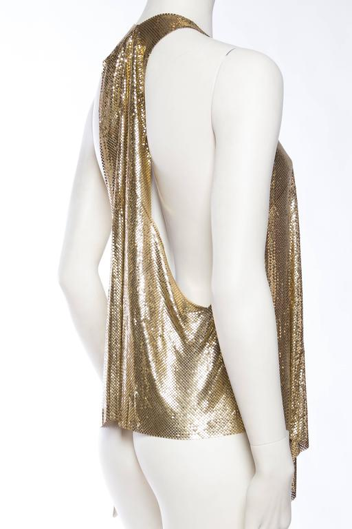Slinky Gold Metal Mesh Vest For Sale 1