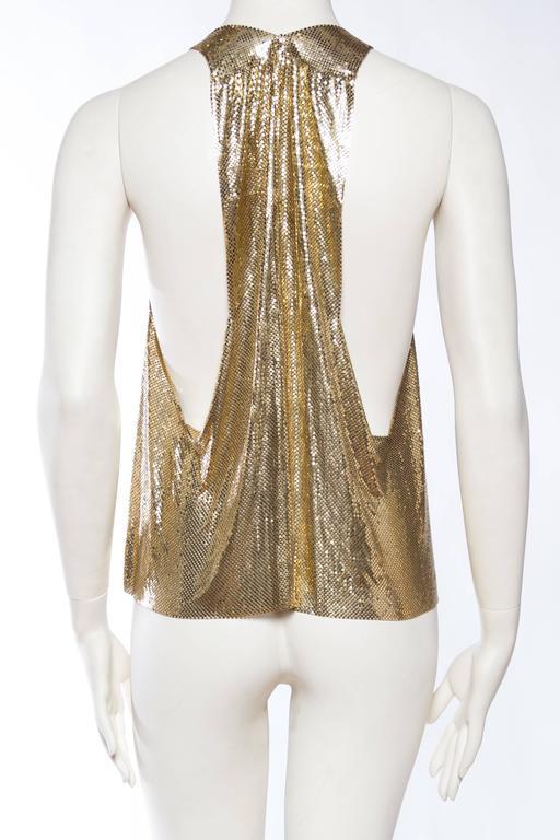 Slinky Gold Metal Mesh Vest For Sale 2