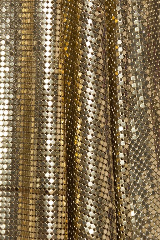 Slinky Gold Metal Mesh Vest For Sale 5