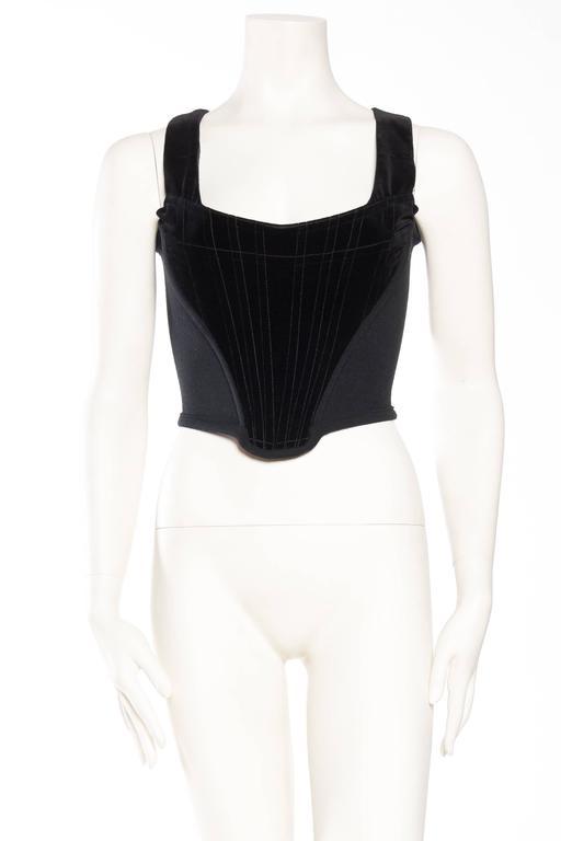 Black Vivienne Westwood Velvet Corset For Sale