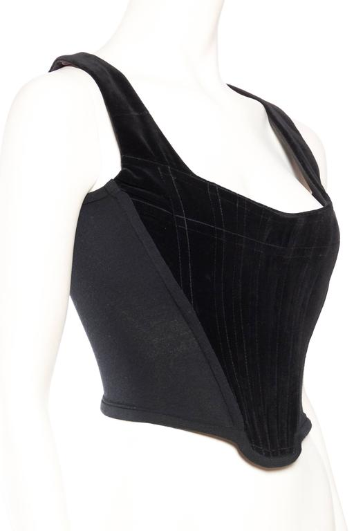 Vivienne Westwood Velvet Corset In Good Condition For Sale In New York, NY