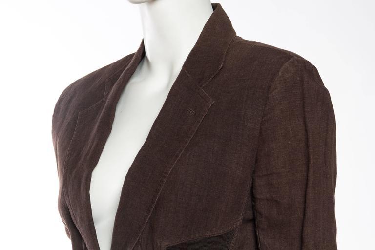 1990s Jean Paul Gaultier Linen Corset Blazer For Sale 2