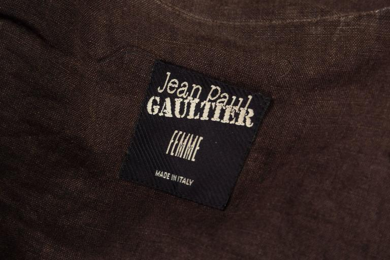 1990s Jean Paul Gaultier Linen Corset Blazer For Sale 6