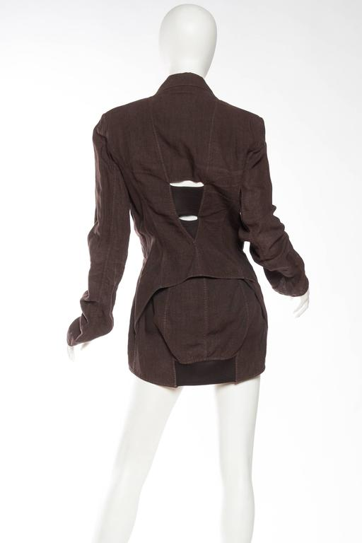 1990s Jean Paul Gaultier Linen Corset Blazer For Sale 1