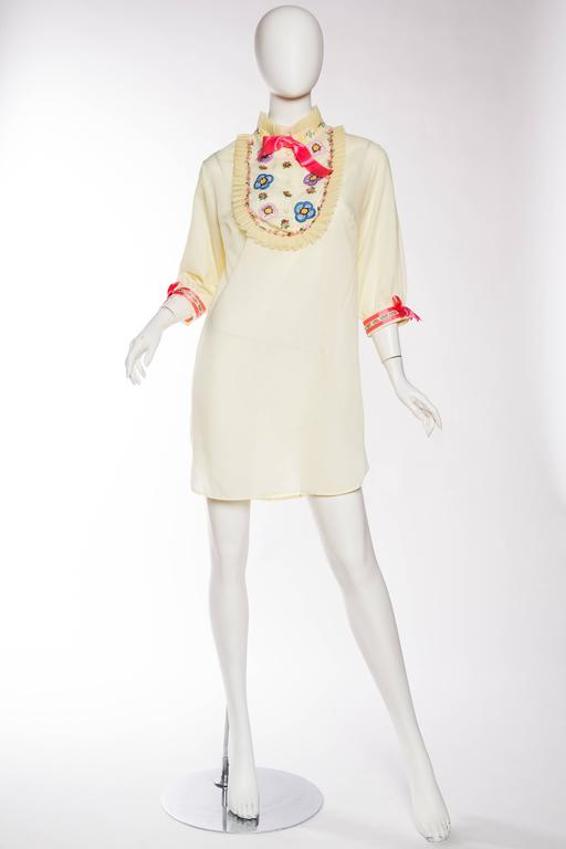 1960s Gucci Inspired Babydoll Shirt Dress 2