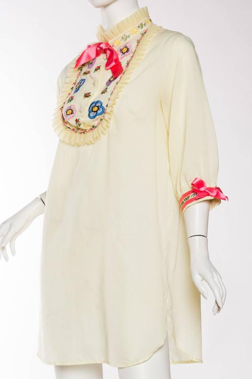 1960s Gucci Inspired Babydoll Shirt Dress 5