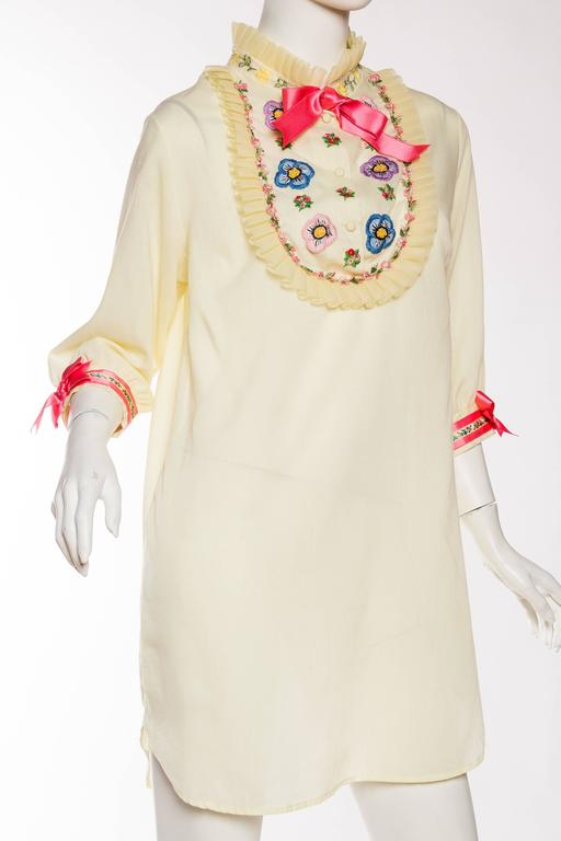 1960s Gucci Inspired Babydoll Shirt Dress 4