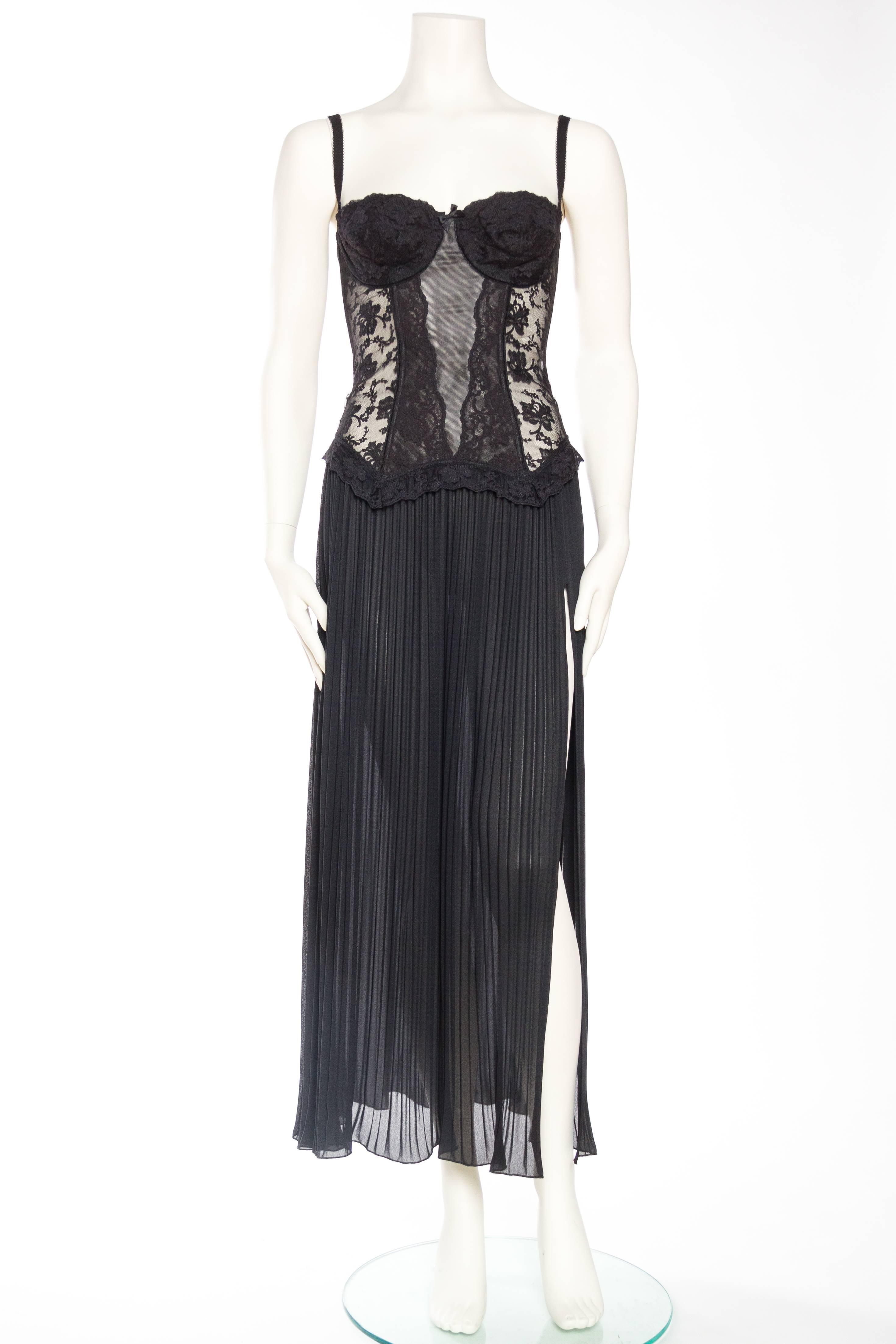 3c3e38062c 1990s Vivienne Tam Sheer Corset Dress at 1stdibs