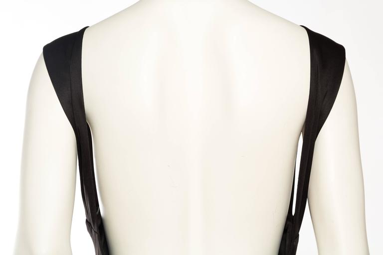 1990s Vintage Versus Versace Slinky Backless Jersey Gown  For Sale 3