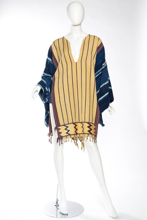 Handwoven Ethnic Tunic Dress In Excellent Condition For Sale In New York, NY