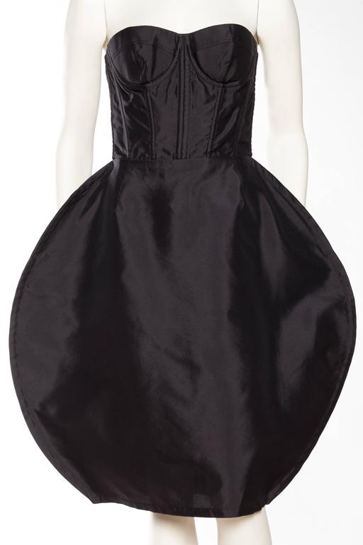 Black Dolce & Gabbana Corset Circle Dress For Sale