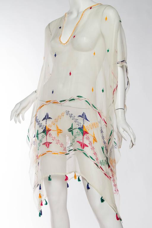 Vintage Silk Chiffon Tunic with Hand Embroidery 5