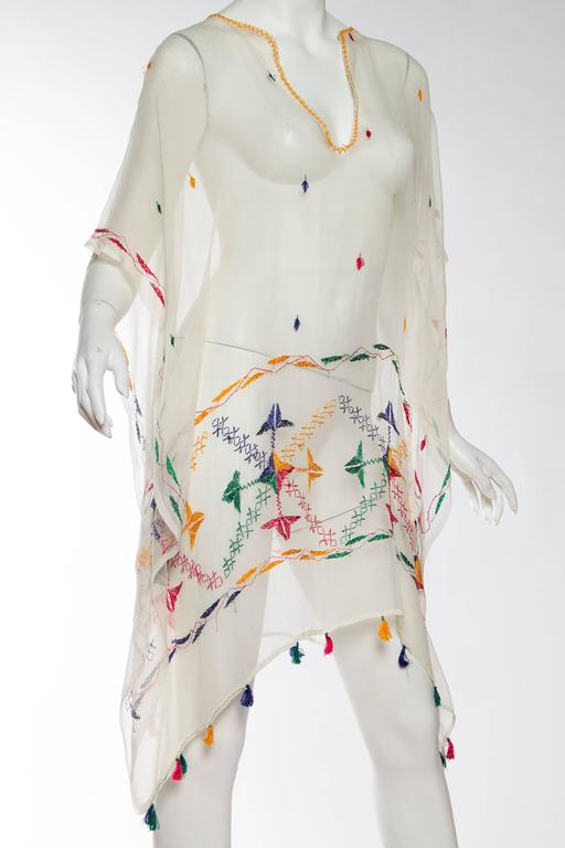 Vintage Silk Chiffon Tunic with Hand Embroidery 4
