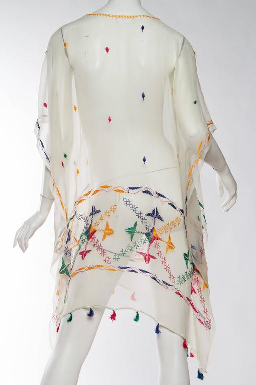 Vintage Silk Chiffon Tunic with Hand Embroidery 6