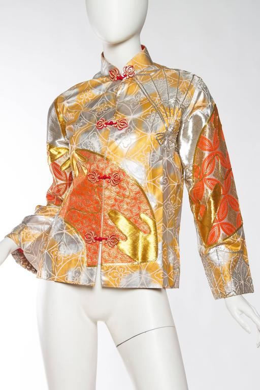Hand Painted Chinese Mandarin Jacket Fully Embroidered