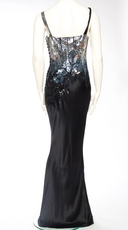 Fantastic Sequined Bias-Cut Satin Gown by John Galliano For Sale 1