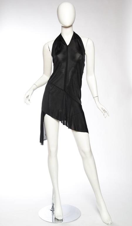 John Galliano Christian Dior Slinky LBD semi sheer