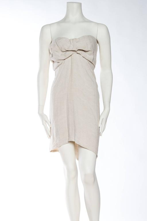 1990s Donna Karan Minimalist Jersey Dress In Excellent Condition For Sale In New York, NY