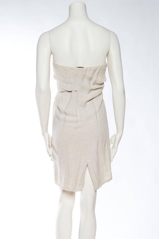 1990s Donna Karan Minimalist Jersey Dress For Sale 2