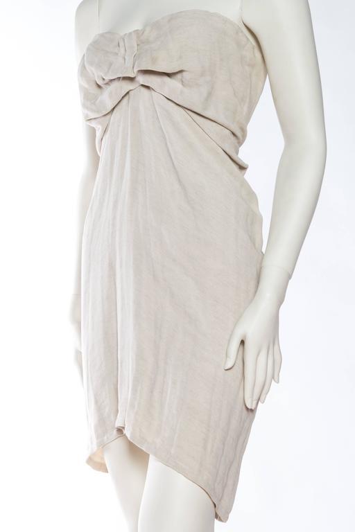 1990s Donna Karan Minimalist Jersey Dress For Sale 1