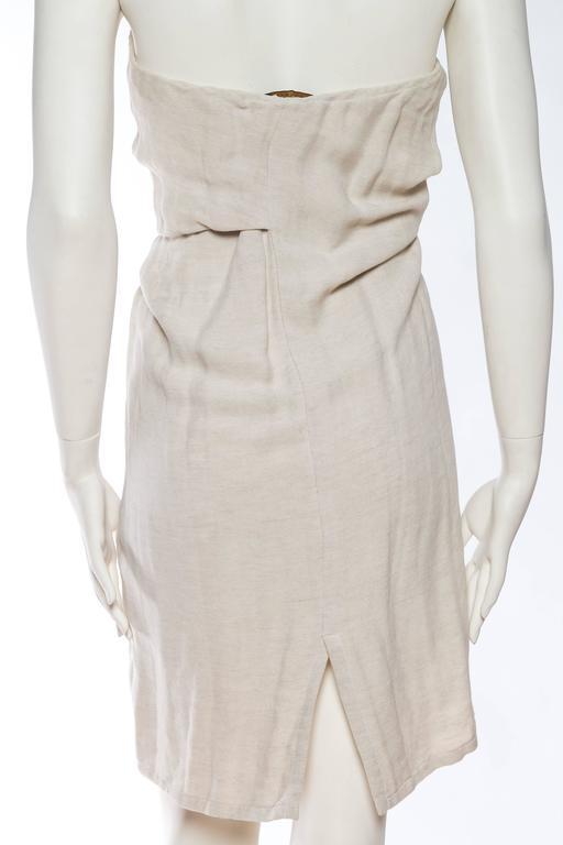 1990s Donna Karan Minimalist Jersey Dress For Sale 3