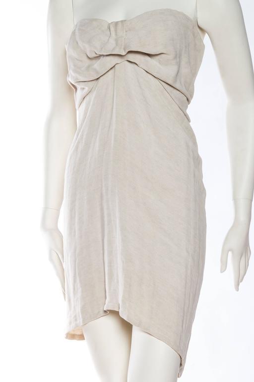 Gray 1990s Donna Karan Minimalist Jersey Dress For Sale