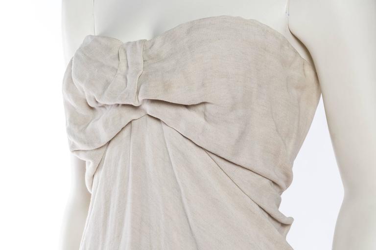1990s Donna Karan Minimalist Jersey Dress For Sale 4